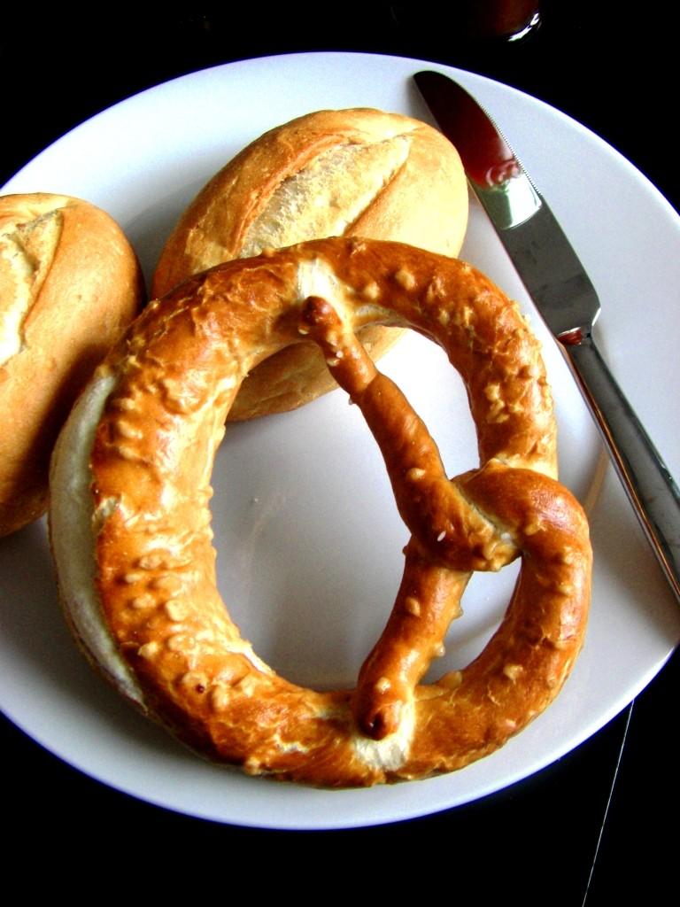 Deutsches Essen in Auckland: Brezeln