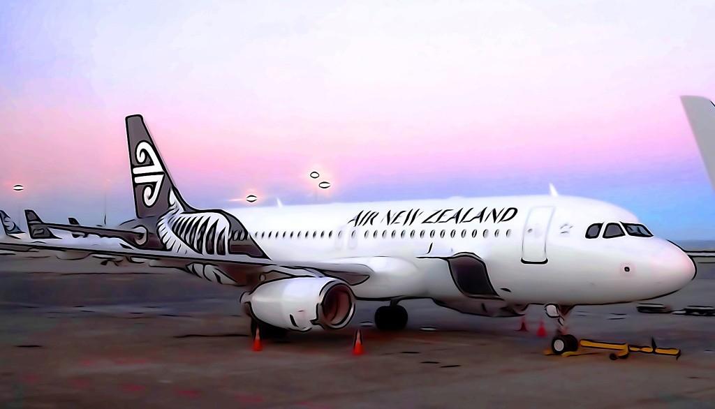 Von der Air New Zealand Lounge hat man einen tollen Blick auf die Flugzeuge!