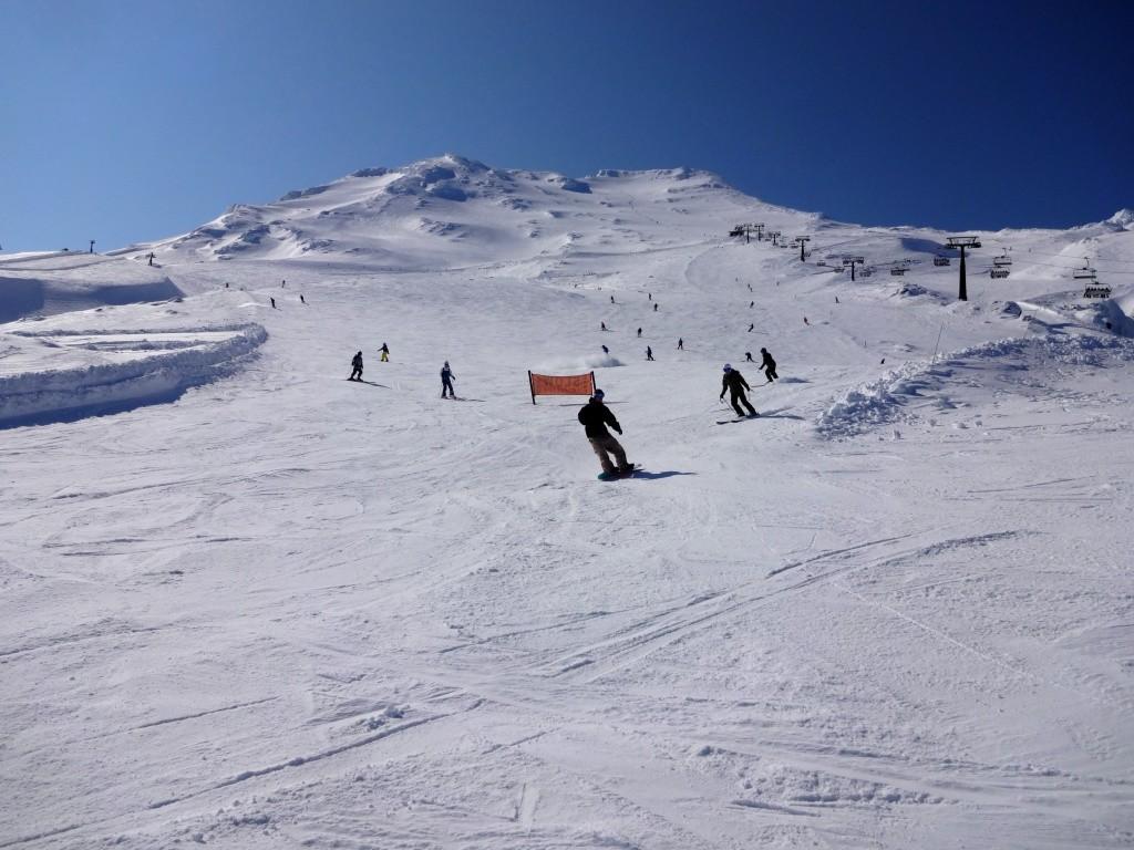 Auf in die Berge - Skifahren auf dem Vulkan