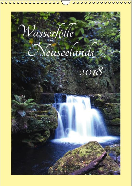 Geschenkideen für Neuseeland-Fans - Kalender: Wasserfälle Neuseelands