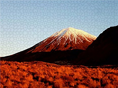 2000 Teile Puzzle - Mount Ngauruhoe im Abendlicht