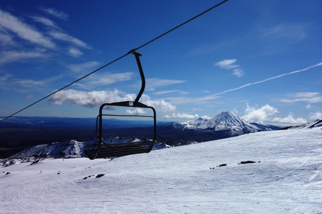 Snowboarden in Whakapapa