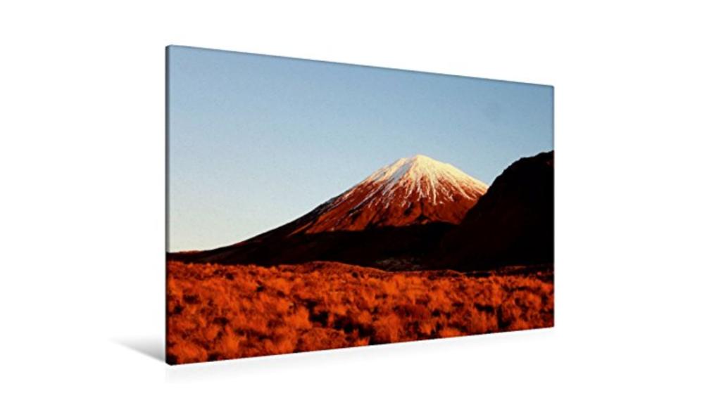 Geschenkideen für Neuseeland-Fans - Leinwand: Mt Ngauruhoe im Abendlicht