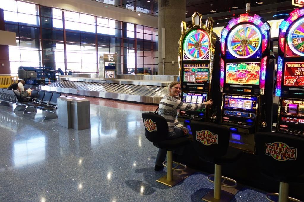Las Vegas - Spielautomaten am Flughafen
