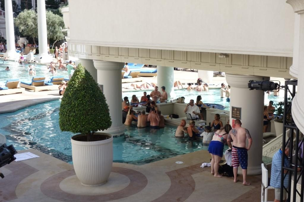 Las Vegas - Poolbereich des Caesars Palace
