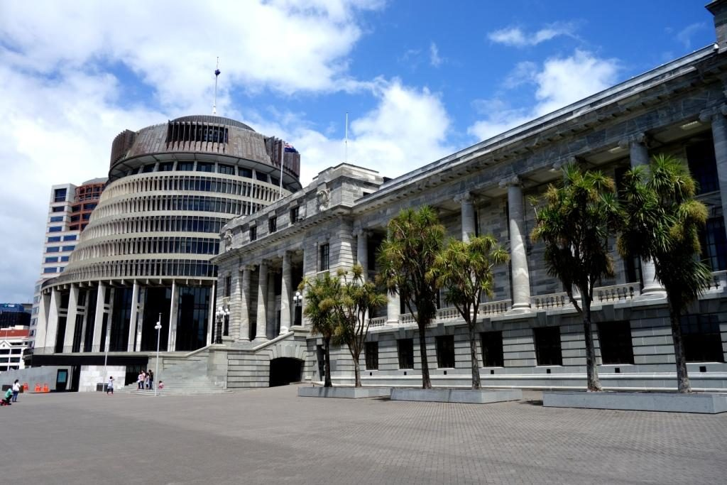 Wellington - Beehive - das Parlament