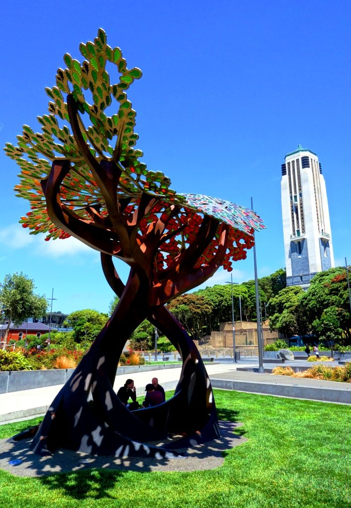 Wellington - Pohutukawa & Royal Oak Tree Sculpture