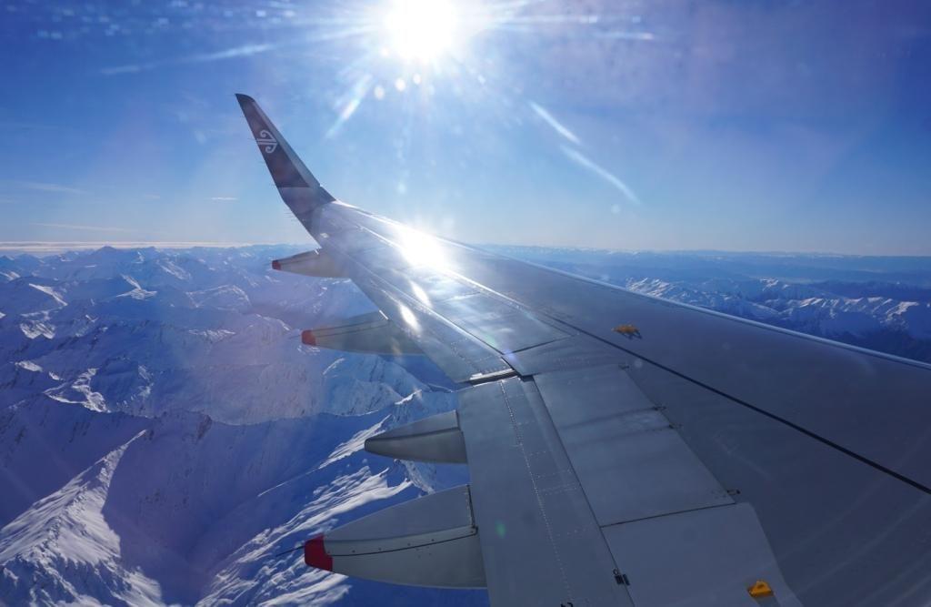 Queenstown - Anflug über die Southern Alps