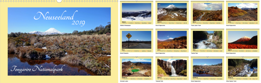 Kalender - Neuseeland 2019 - Tongariro Nationalpark