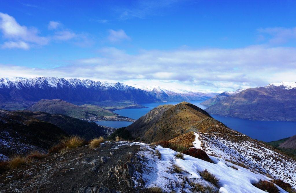 Ben Lomond Track - Blick über Lake Wakatipu und die Remarkables