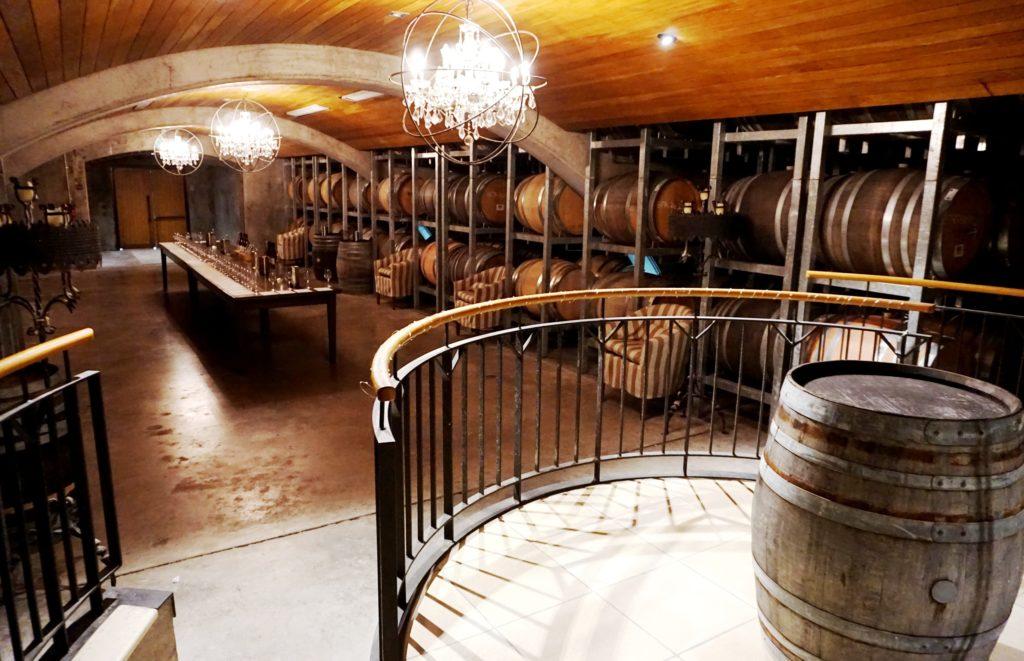 Weinanbau in Blenheim: im Weinkeller