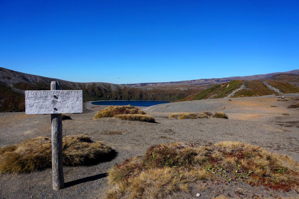 Wanderung zu den Tama Lakes: Lower Tama Lake
