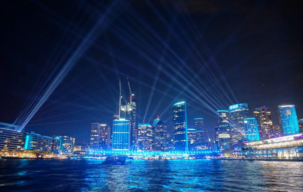 VIVID Sydney: Wolkenkratzer der Stadt