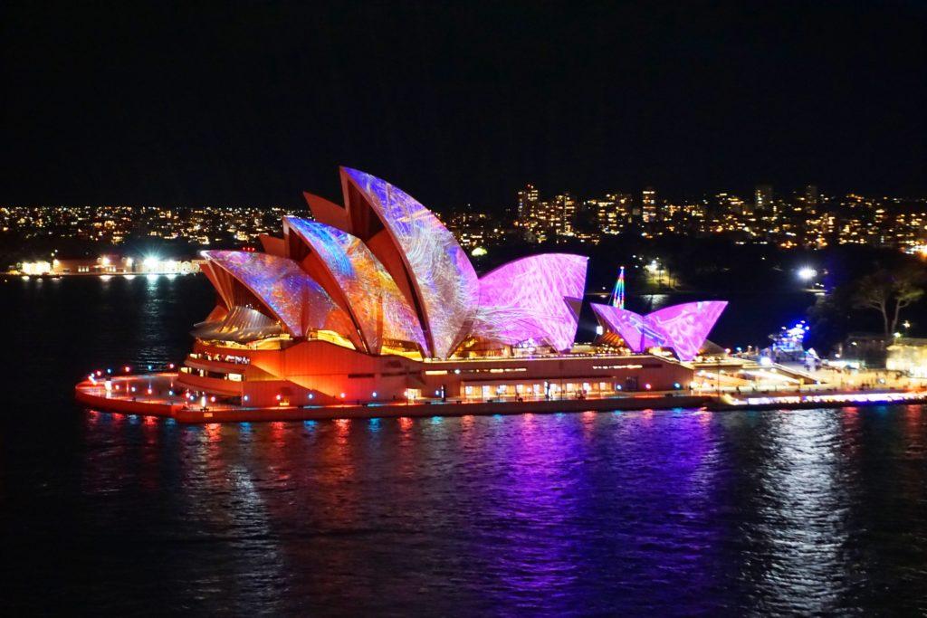 VIVID Sydney: Blick aufs Opernhaus