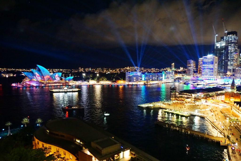 VIVID Sydney: Blick auf die Stadt