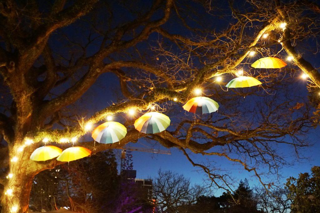 Lichtinstallation auf dem Turama Festival
