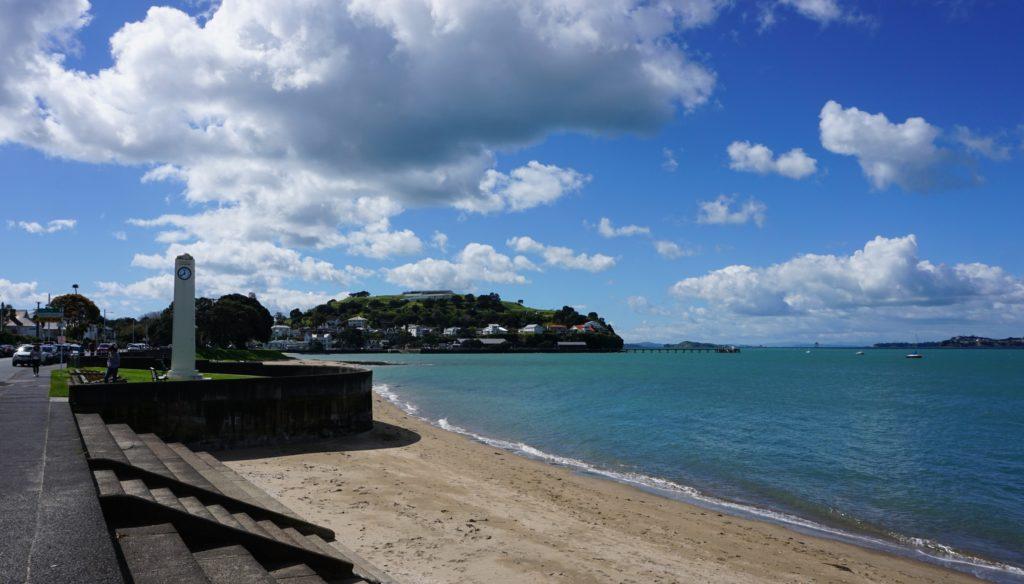 Blick auf North Head und Torpedo Bay