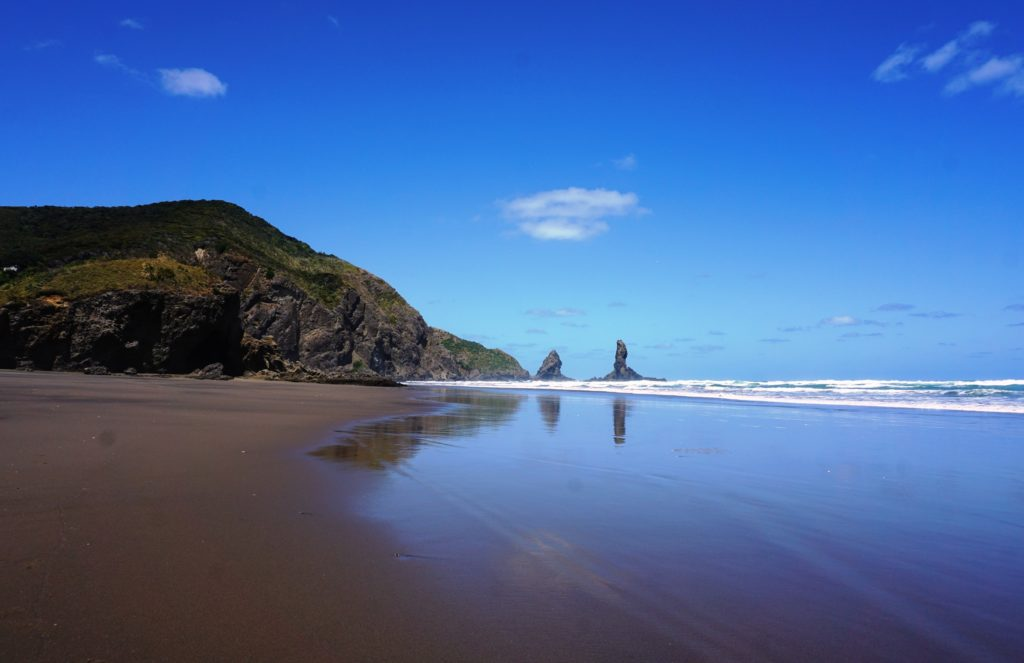 Markanter Felsen am Anawhata Beach