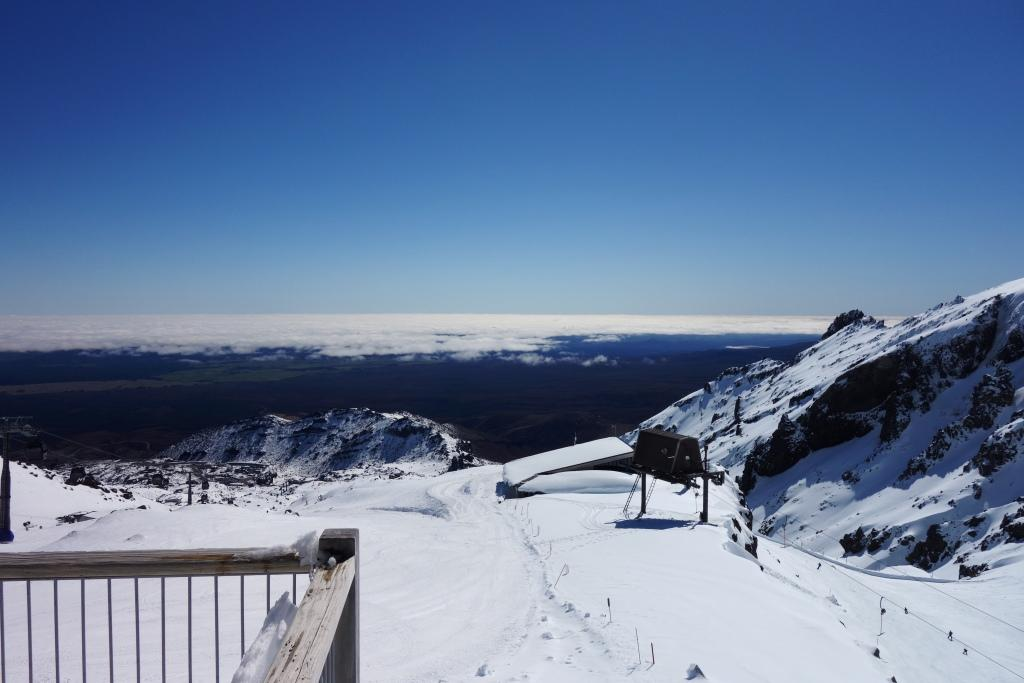 Blick über das Skigebiet Whakapapa