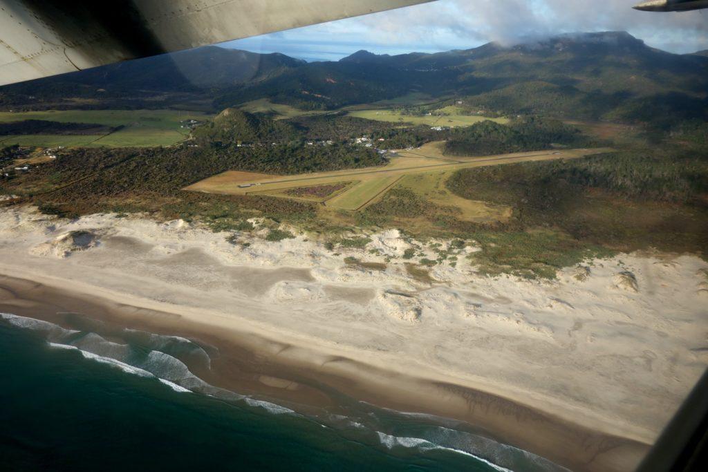 Flugplatz Claris auf Great Barrier Island