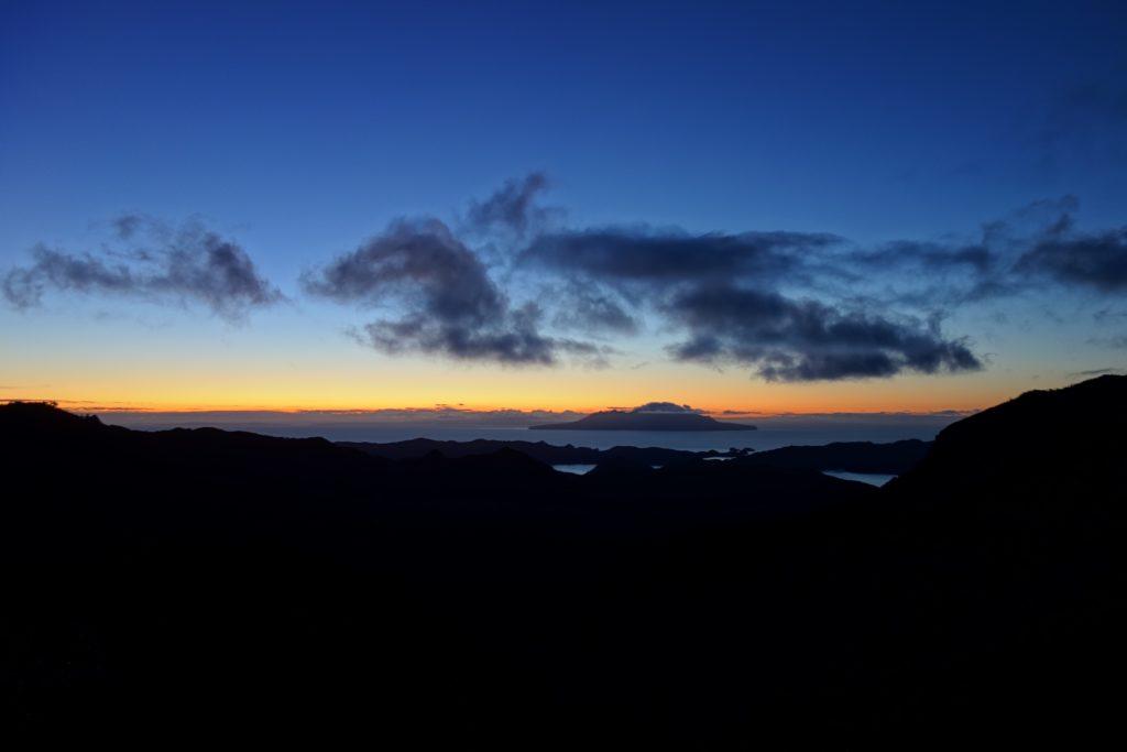 Sonnenuntergang von Mt Heale Hut aus gesehen