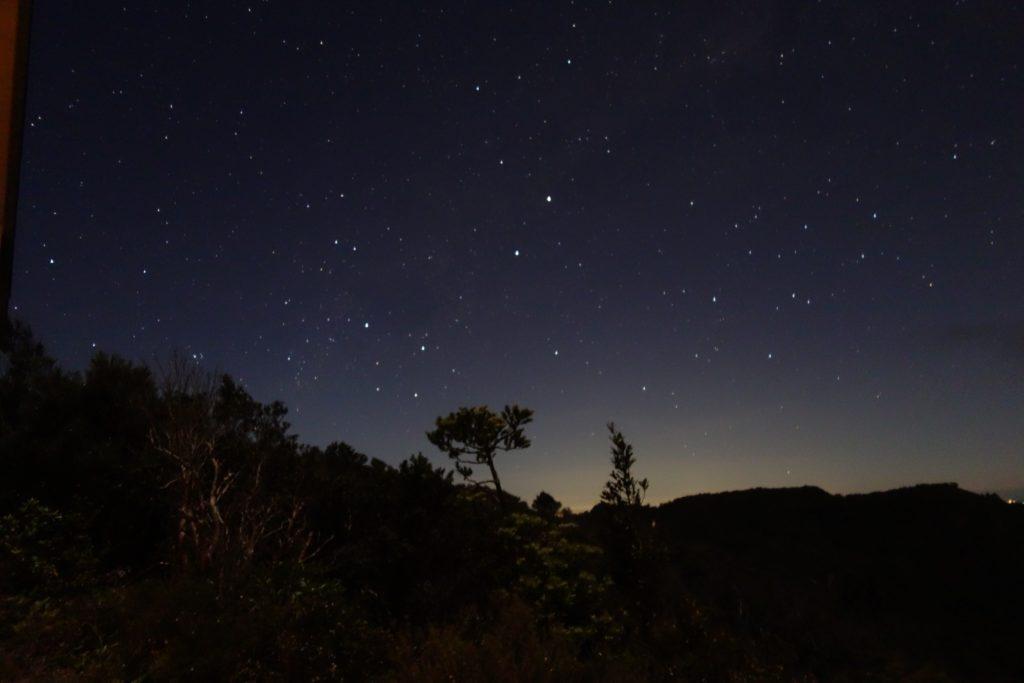 Sternenhimmel mit Kreuz des Südens von Mt Heale Hut aus gesehen