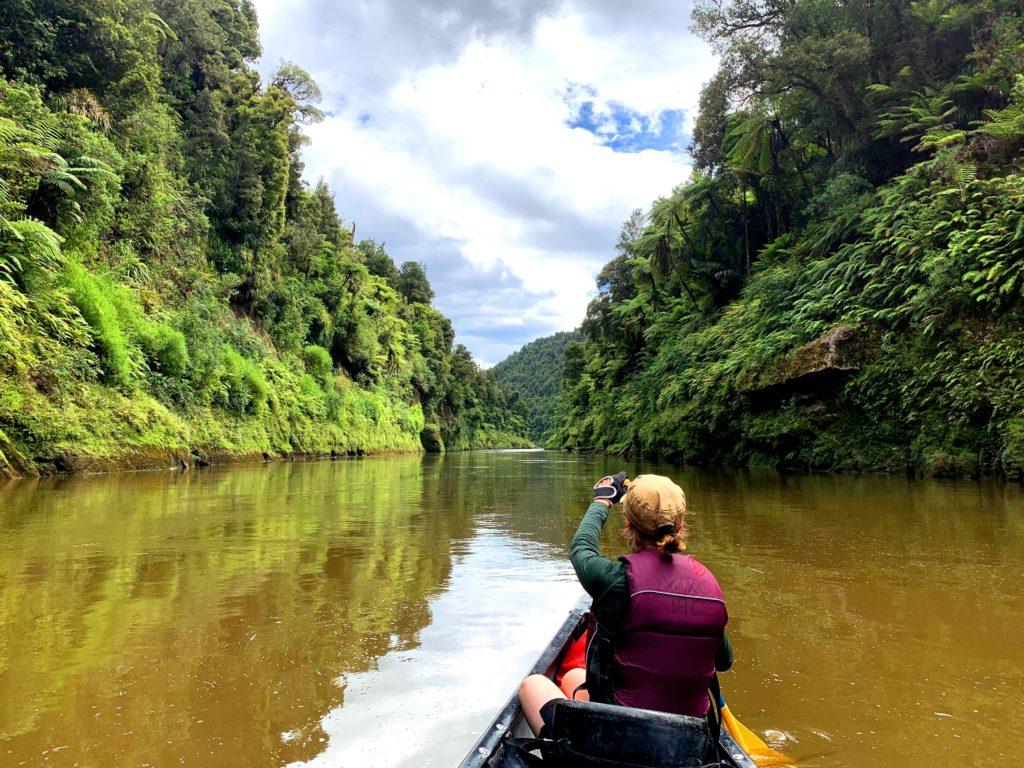 Mit dem Kanu durch die Einsamkeit des Whanganui Rivers