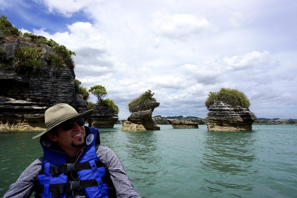 Pancake Rocks an der Limestone Coast in Raglan